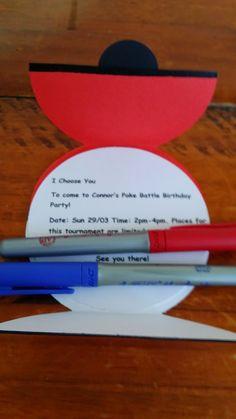 Adventures of a Dyspraxic Organised Scrapper: Pokeball Birthday Invites