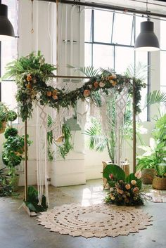 Bohemian Garland (by the foot) Bohemian Garland (by the foot) – Bloominous Wedding Flowers. Wedding Ceremony Ideas, Fall Wedding Decorations, Bridal Shower Decorations, Ceremony Decorations, Wedding Centerpieces, Wedding Day, Dream Wedding, Autumn Wedding, Indoor Garden Wedding Reception