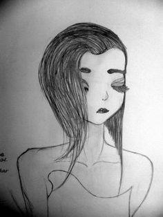 Sad girl by ShiroAnnie