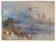 Mantes. 1833. Joseph Mallord William Turner