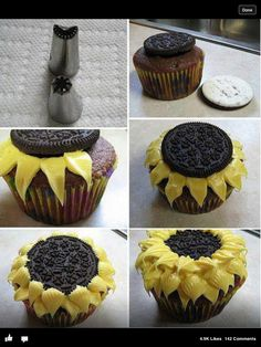 Great cupcake decorating idea I found online. Not sure where the picture came from.