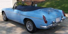 1963 MGB Roadster - Iris Blue Had 2 of these at different times, slightly lighter blue