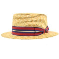 5eadd964fb5bf Unisex Maize Straw Stripe Band Porkpie Boater Derby Fedora Sun Hat Natural 7 -1