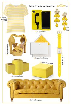 How to add a punch of YELLOW!