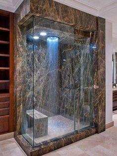 Porque banho de chuveiro também é tudo de bom! #decoração #banheiro #relax