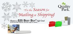 'Tis the season for mailing and shipping...and for shopping! So if you are going to be mailing and shipping why not use this Quality Park rebate to help with your shopping? I'm sure no one would frown at a gift from Best Buy! #office supplies