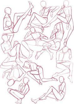 Dessin de poses Anatomy, Anatomy Reference