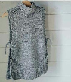 18 stunning yet simple garter stitch knitting patterns – Artofit Knit Vest Pattern, Poncho Knitting Patterns, Crochet Poncho, Knit Patterns, Free Knitting, Baby Knitting, Knitting Stitches, Diy Crafts Knitting, Long Sweaters For Women