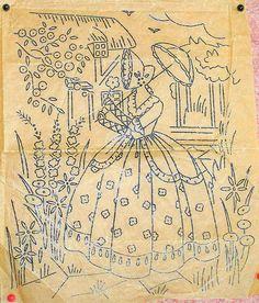 Floral Motifs Vintage Embroidery Transfer Sheet Good Needlework Magazine May 1933