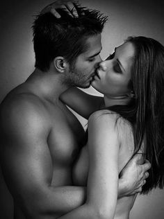 Couple romantic hot love kiss