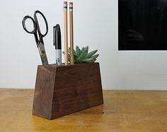 Modern Desk Organizer with Succulent Planter