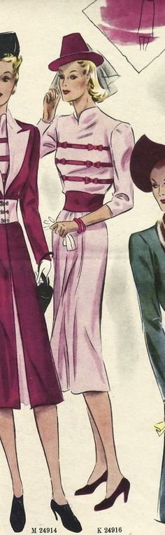 Of Dreams and Seams: The 1938 Dress: Tutorial Built-up Neckline