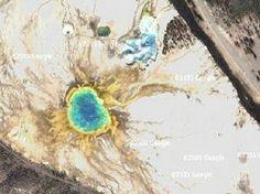 Yellowstone National Park - Google Satellite Photo
