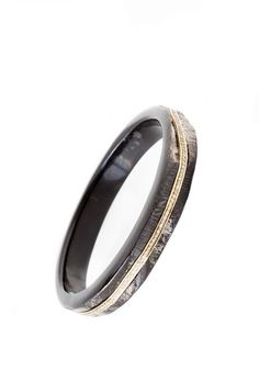 The Woods Black Horn Bangle with Inset Pave Diamonds Set in Brass at ShopGoldyn.com #TheWoods #BlackHorn #Banglewith InsetPaveDiamonds #ShopGoldyn