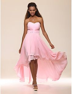 TS Couture® Prom / Formal Evening Dress - Open Back Plus Size / Petite A-line / Princess Strapless / Sweetheart Floor-length / Asymmetrical Chiffon Cheap Cocktail Dresses, Cocktail Dresses Online, Cheap Prom Dresses, Prom Party Dresses, Homecoming Dresses, Bridal Dresses, Bridesmaid Dresses, Dress Prom, Prom Gowns