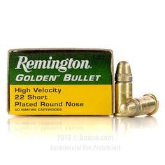 Remington 22 Short Ammo - 50 Rounds of 29 Grain CPRN Ammunition #22Short #22ShortAmmo #Remington #RemingtonAmmo #Remington22Short #CPRN #GoldenBullet
