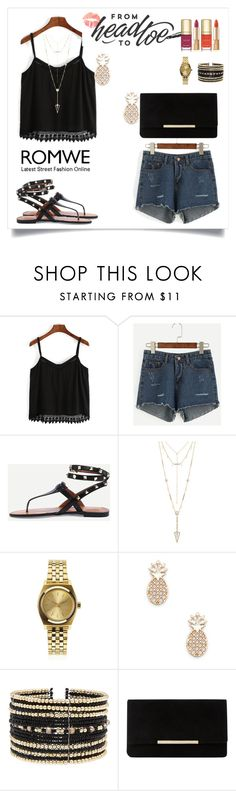 """""""Romwe 6"""" by amra-f ❤ liked on Polyvore featuring House of Harlow 1960, Nixon, Sole Society, Eloquii, Dune and Dolce&Gabbana"""