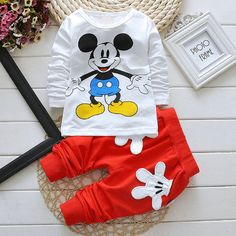 Baby and Toddler Mickey Mouse Unisex 2 Piece Outfit