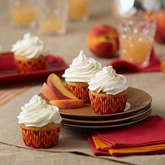 Browned Butter Peach Cupcakes    - Replacing plain butter with browned butter adds a nutty, toasted flavor that softens the bright, floral notes of Juicy Peach Flavor Concentrate ever-so-slightly, making this one sophisticated cupcake.