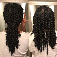 Hair growth tips natural hair and how to keep your hair moisturized using hair growth treatment diys at home and the best all natural products for natural hair care. Protective Hairstyles For Natural Hair, Natural Hair Twists, Easy Hairstyles, Black Hairstyles, Natural Twist Hairstyles, Hairstyles Videos, Hairstyles 2016, Straw Set Natural Hair, Natural Hair Brides