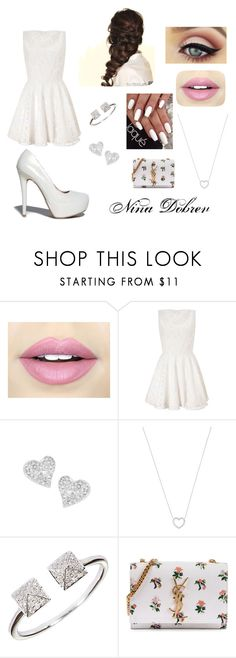 """""""Nina """" by pontesthuany on Polyvore featuring Fiebiger, Lipsy, Vivienne Westwood, Tiffany & Co., Disney, Yves Saint Laurent and Qupid"""