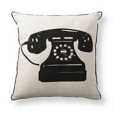 Olio Telephone Throw Pillow