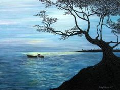 Artist Andy Jefferson; title Calabash Bay; Letho print, 30 x 35 cm, limited edition. Price CHF 70| Experience Jamaique