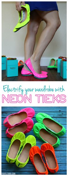 """""""Like many, I hoped that one day Tieks would bring them back and now they have! Back by popular demand, the neon collection is here and I couldn't help but order all four pairs on the day they were released."""""""