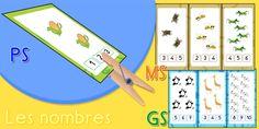 Maths Maternelle, Cartes pour Apprendre les nombres   Dénombrement, Maths PS…