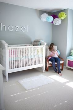 Simple grey nursery