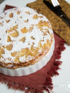 """Sharlotka"" is a Russian version of an apple pie, but it is closer in texture to a cake."