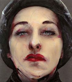 Portraits using a contemporary variation on the fresco-technique by Lita Cabellut
