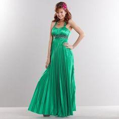 vestido longos verde plissado para madrinha