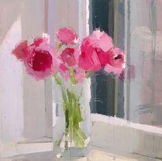 Painting Still Life, Still Life Art, Paintings I Love, Beautiful Paintings, Acrylic Flowers, Oil Painting Flowers, Abstract Flowers, Flower Paintings, Still Life Flowers
