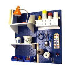 Wall Control Pegboard Hobby Craft Pegboard Organizer Storage Kit - Blue - Sewing & Craft Storage at Hayneedle
