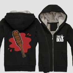 The Walking Dead Lucille hoodie for men, wear in winter super warm, mens The Walking Dead black thick fleece sweatshirts plus size clothing, size from M to as fans, watch The Walking Dead season wear team Lucille Negan zip up hoodies for winter. The Walking Dead Lucille, Zip Up Hoodies, Sweatshirts, Black Zip Ups, Fleece Hoodie, Winter Wear, Black Hoodie, Plus Size Outfits, Sweaters