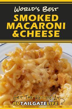 Smoked Macaroni and Cheese Smoker Cooking smoker recipes mac and cheese Traeger Recipes, Smoked Meat Recipes, Grilling Recipes, Vegan Grilling, Smoker Mac And Cheese, Barbecue, Smoked Cheese, Smoked Mac N Cheese Recipe, Smoke Cheese Recipe