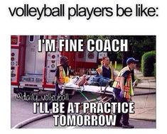 A true volleyball player will always try to get in the game and if not,. At least play during practice. Exactly how I am during volleyball. I have been told I am a true volleyball player and will make it through anything. Volleyball Jokes, Cheerleading Quotes, Soccer Memes, Play Volleyball, Gymnastics Quotes, Coaching Volleyball, Volleyball Ankle Braces, Funny Soccer Quotes, Cheerleading Flyer