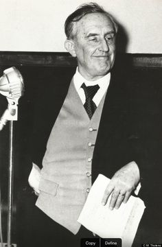 The above photograph, taken on the night of the Rotterdam Hobbit Dinner, March 28, 1958, shows Tolkien in his fancy waistcoat (or weskit as they would have called it in the Shire).