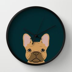 Willow - French Bulldog phone case art design for dog lovers and dog people Wall Clock by PetFriendly - $30.00