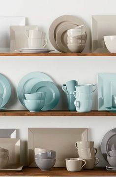 Aqua 16 Piece Dinnerware Set Dinnerware Pinterest