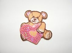 Teddy Bear Baby Girl Design  Embroidered Iron On by LoveLaly