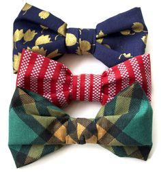 Clip on bow tie pattern
