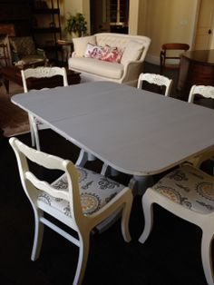 Antique Duncan Phyfe Table And Six Chairs By Velvetcupboard, $439.00