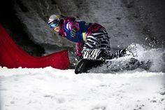 Eva Samková of the Czech Republic just having fun at the FIS World Cup. http://win.gs/1j6dV2J Image: Vitek Ludvik/Red Bull Content Pool #snowboarding