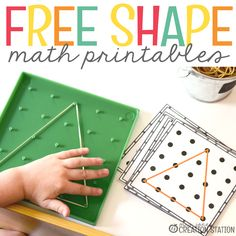 Teaching shapes is so much fun with little learners. Check out these 5 FREE shape activities to use during your math instruction!
