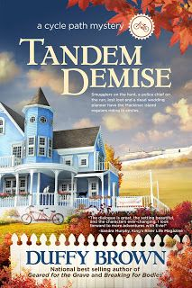 Tandem Demise: A Cycle Path Mystery by Duffy Brown Book Blast – Carla Loves To Read Best Mysteries, Cozy Mysteries, Malboro, Books To Read, My Books, Cool Books, Mackinac Island, Mystery Novels, Duffy