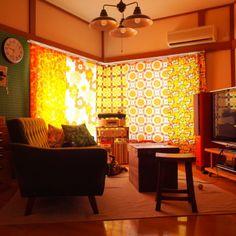 レトロ/カラフル/ごちゃごちゃ/ヴィンテージファブリック/後藤照明/カリモク60…などのインテリア実例 - 2015-08-11 10:05:42 | RoomClip(ルームクリップ)
