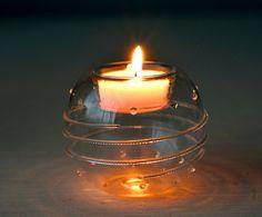 Vintage , Candle Holder , Glass Candle Holder,Glass Clear, Glass Bowl, Beautiful Candle Holder