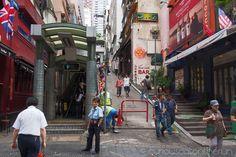 Mid-levels escalator, Hong Kong